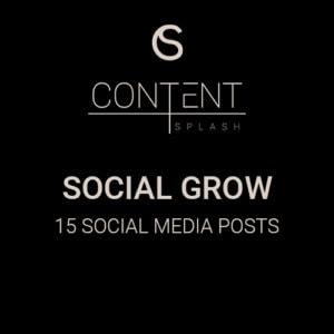 social grow social media content creation 15 social media posts