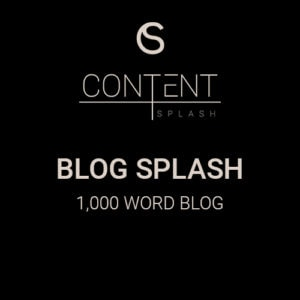 blog splash content creation services 1000 word blog