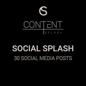 social splash social media content creation 30 social media posts
