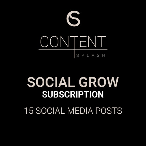 social grow subscription content package social media content creation